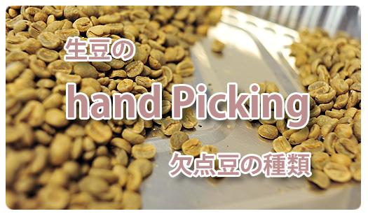 生豆のハンドピッキング欠点豆タイトル