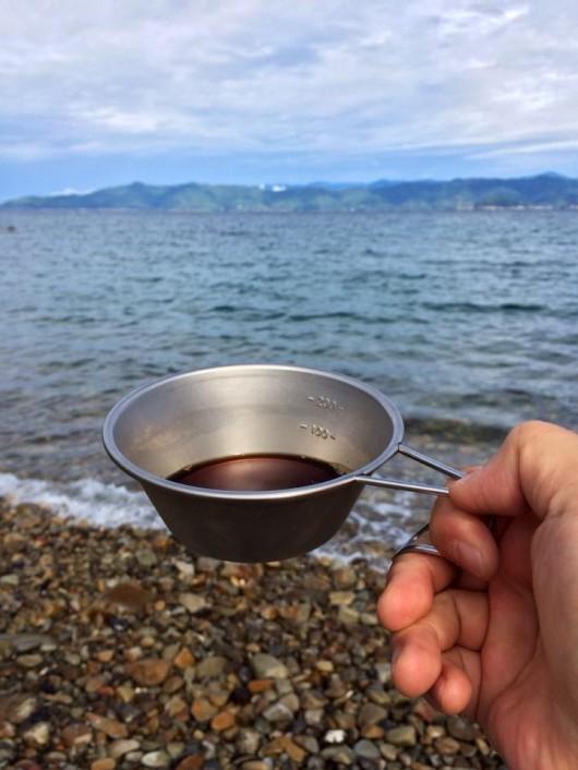海辺のコーヒー