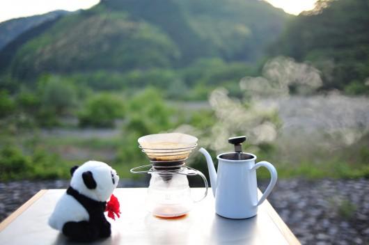 朝日のコーヒー