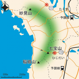 七宝山地図