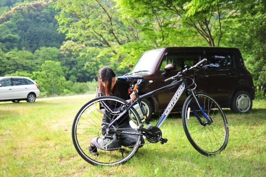 四万十川で自転車