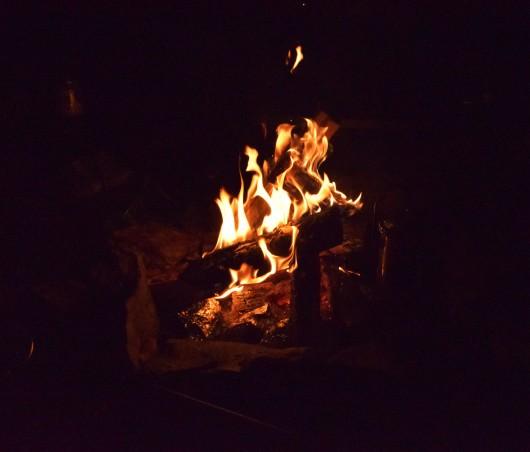焚き火飲み