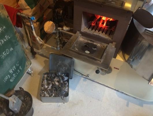 真夏の炭焼き焙煎