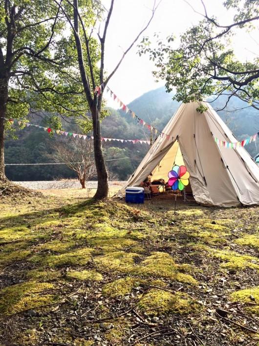 あけおめキャンプはシロクマテント
