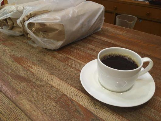 コーヒー屋さんに配達